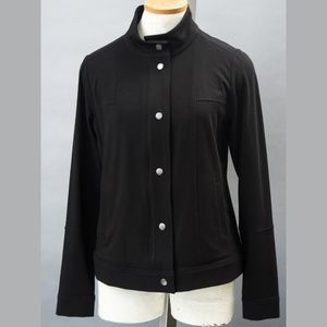 Eileen Fisher black cotton Lycra jacket Small